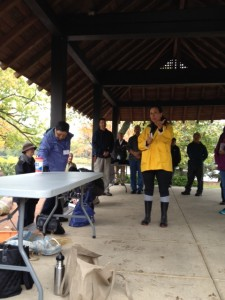 A big thanks goes to Karen Szyjka of the Chicago Park District (in the yellow slicker giving introductions) for making the workshop possible!