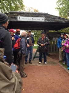 An unexpected bonus to the workshop was meeting Koichi Kobayashi (wearing the black coat and hat in the center of the photo). He was the designer for the main gate and pathway leading into the garden.
